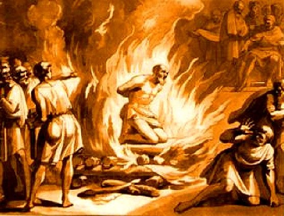 Polycarp's Prayer before Burning